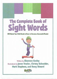 The Complete Book of Sight Words  220 Words Your Child Needs to Know to Become a Successful Reader (Flash Kids)