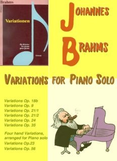 Complete Variations for Piano Solo + 4 Hand variations, arranged for piano solo