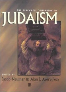 The Blackwell Companion to Judaism (Blackwell Companions to Religion)