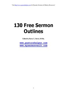 130 Free Sermon Outlines - My Sermon Vault