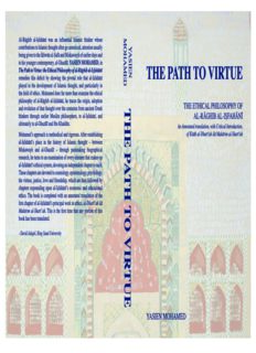 The Path to Virtue: The Ethical Philosophy of Al-Raghib Al-Esfahani. An Annotated Translation with critical introduction of Kitab Al-Dhari'ah ila Makarim Al-Shariah