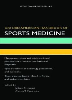 Oxford American Handbook of Sports Medicine (Oxford American Handbooks)