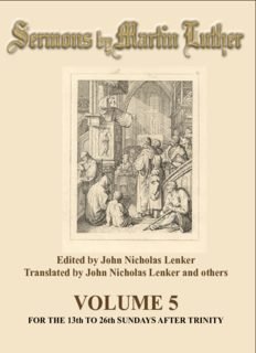 Luther - Sermons of Martin Luther Vol. 5 - Martin Luther's Sermons