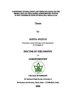 Thesis by AGENA ANJULO DOCTOR OF PHILOSOPHY AGROFORESTRY 2009