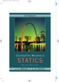 Meriam Kraige Engineering Mechanics Statics 6th Edition book