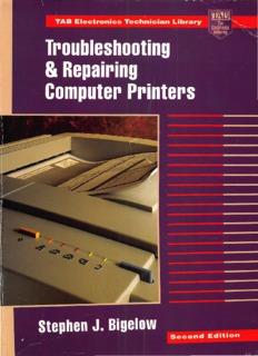 Troubleshooting & Repairing Computer Printers 2nd edition 1996.pdf