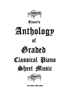 Altoon's Anthology of Graded Classical Piano Sheet Music