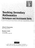 Teaching Secondary Mathematics Textbook