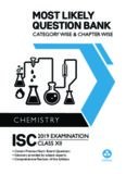 Most Likely Question Bank Chemistry for ISC Class 12 Standard XII Chapter wise Topic wise Oswal