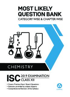 Most Likely Question Bank Chemistry for ISC Class 12 Standard XII Chapter wise Topic wise Oswal Publishers