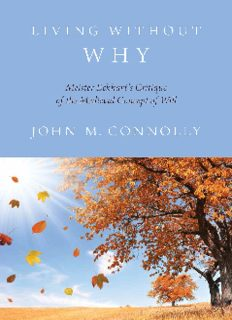 Living without why : Meister Eckhart's critique of the medieval concept of will