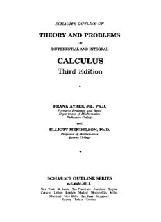 Schaum's Outline of Theory and Problems of Differential and Integral Calculus, Third Edition
