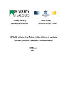 Elif Shafak and Emine Sevgi Özdamar: Politics of Fiction, Re-negotiating Secularism, Decolonial ...