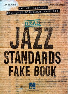 Real jazz standards fake book (Hal Leonard)