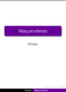 Mahjong and mathematics