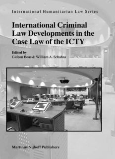 International Criminal Law Developments in the Case Law of ICTY (International Humanitarian Law Series, V. 6)
