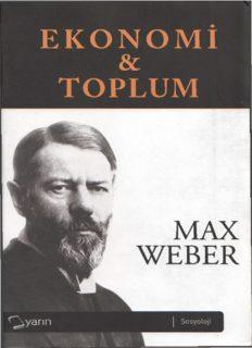 EKONOMi & TOPLUM MAX WEBER