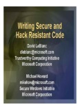 Writing Secure and Hack Resistant Code - Black Hat