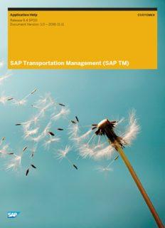 SAP Transportation Management (SAP TM)