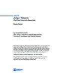 JNCIA Study Guide - Juniper Networks
