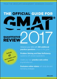 The Official Guide for GMAT Quantitative Review 2017 with Online Question Bank and Exclusive