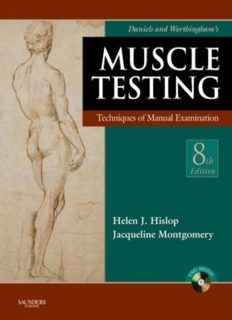 Daniels and Worthingham's Muscle Testing: Techniques of Manual Examination, 8th edition (BOOK + DVD)