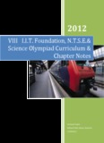 VIII IIT Foundation, NTSE& Science Olympiad Curriculum & Chapter Notes