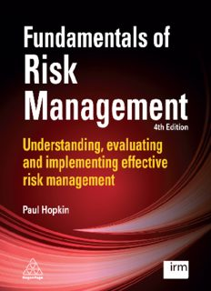 Fundamentals of Risk Management: Understanding, evaluating and implementing effective risk management