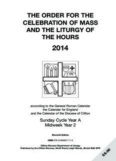 Clifton Ordo 2014 - Clifton Diocese
