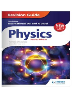 Cambridge International AS/A Level Physics Revision Guide