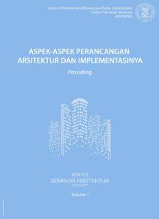 Aspek-Aspek Perancangan Arsitektur dan Implementasinya vol. 2, pembimbing Dewi Larasati, Ph.D