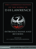 Introductions and Reviews (The Cambridge Edition of the Works of D. H. Lawrence)