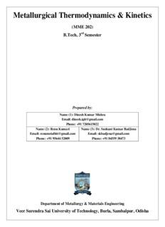 Metallurgical Thermodynamics & Kinetics