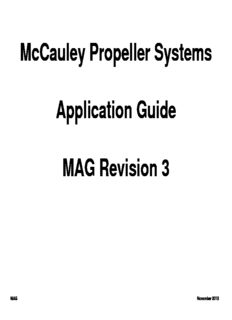 McCauley Propeller Systems Application Guide MAG Revision 3