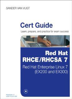 Red Hat RHCSA/RHCE 7 Cert Guide: Red Hat Enterprise Linux 7