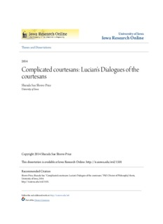 Complicated courtesans: Lucian's Dialogues of the courtesans