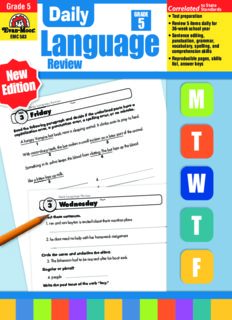 Evan-Moor Educational Publishers. Daily Language Review, Grade 5