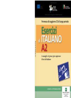 Esercizi di italiano A2. I consigli e le prove per superare i test di italiano