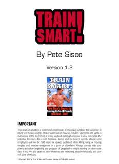 Sisco Pete - Train Smart (Static Contraction - Power Factor)
