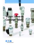 Vickers Screw-in Cartridge Valves