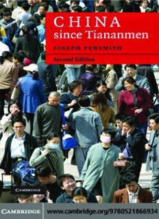 China since Tiananmen: From Deng Xiaoping to Hu Jintao, 2nd edition