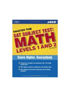 Master SAT II Math 1c and 2c 4th ed (Arco Master the SAT Subject Test: Math Levels 1 & 2)