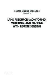 Remote Sensing Handbook: Volume 2 - Land Resources Monitoring, Modeling, and Mapping with Remote Sensing