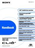 PEG-TJ25/PEG-TJ35 CLIE Handbook