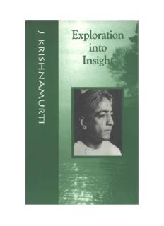 Jiddu Krishnamurti, Exploration into Insight.pdf