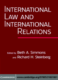 International Law and International Relations In Pdf