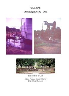 oil & gas environmental law