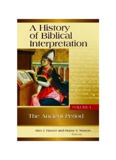 A History of Biblical Interpretation, Volume 1: The Ancient Period