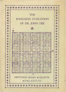 Heptangle Enochian Evocation of John Dee