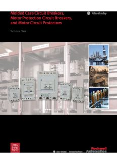 Molded Case Circuit Breakers, Motor Protection Circuit Breakers, and Motor Circuit Protectors
